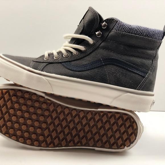 be385d460200a0 Vans SK8 Hi MTE Charcoal Herringbone Sneakers.